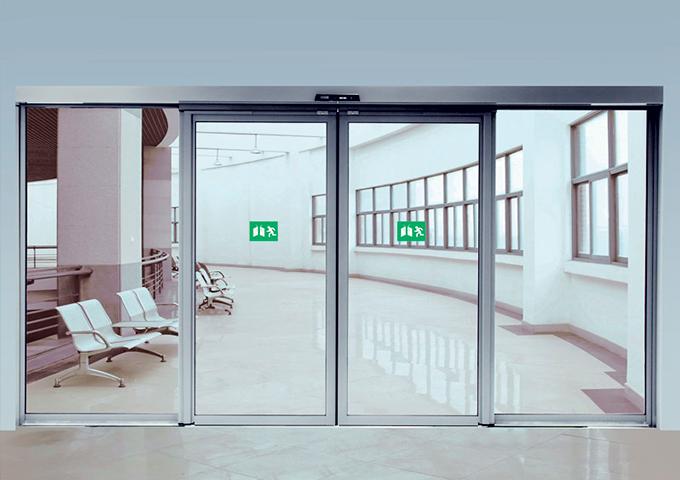 Puerta automatica de vidrio templado 10mm for Puerta corredera automatica vidrio